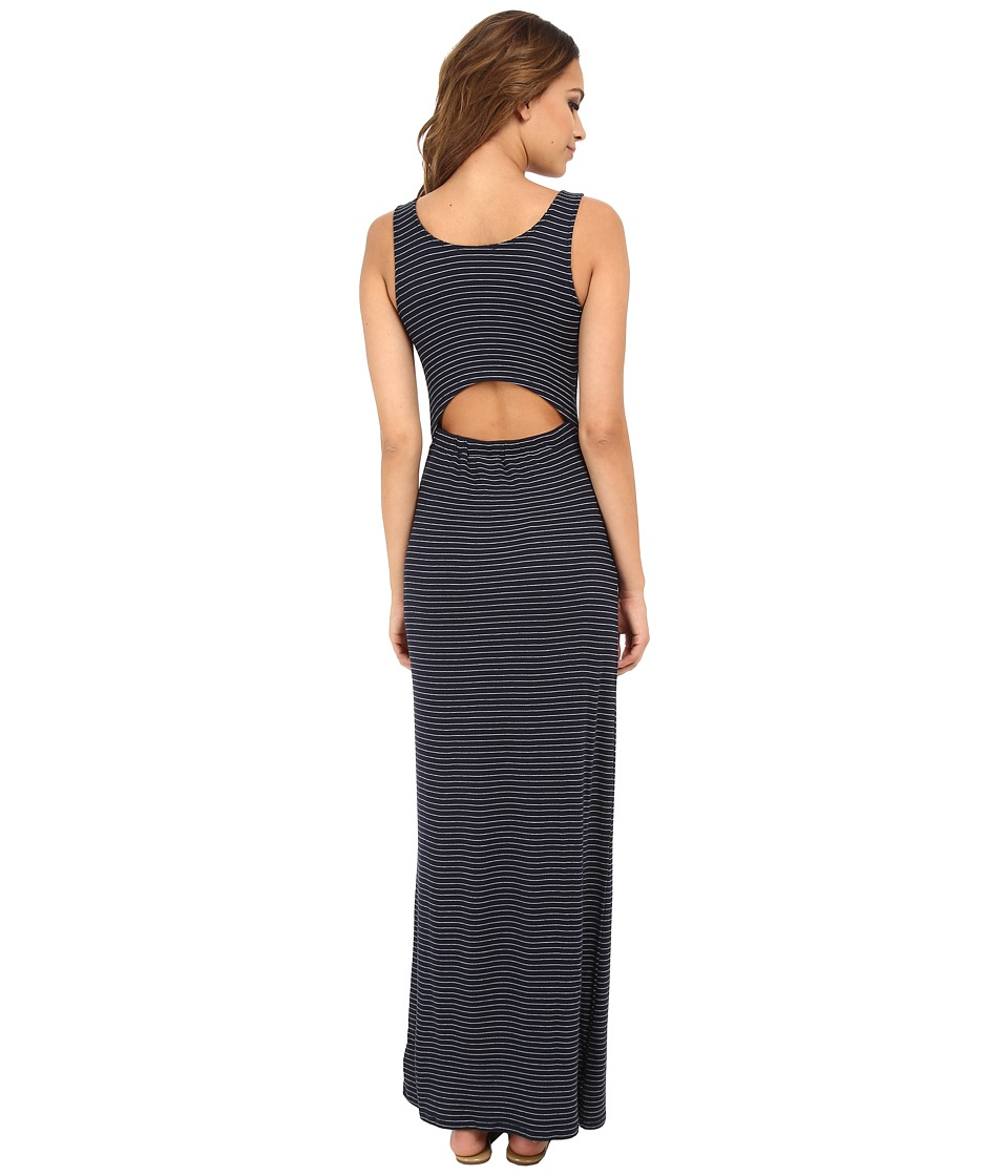 LAmade - Amara Stripe Maxi Dress (Navy/Heather) Women's Dress
