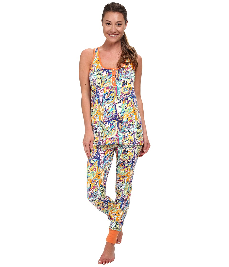 BedHead - Sleeveless Henley PJ (Blue Sergeant Pepper) Women's Pajama Sets