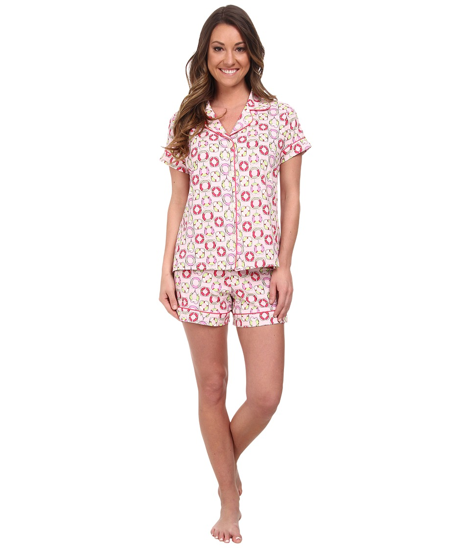 BedHead - Shorty PJ Stretch (Light Pink Lifesavers) Women's Pajama Sets