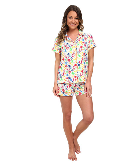 BedHead - Shorty PJ Stretch (Multi Beach Balls) Women