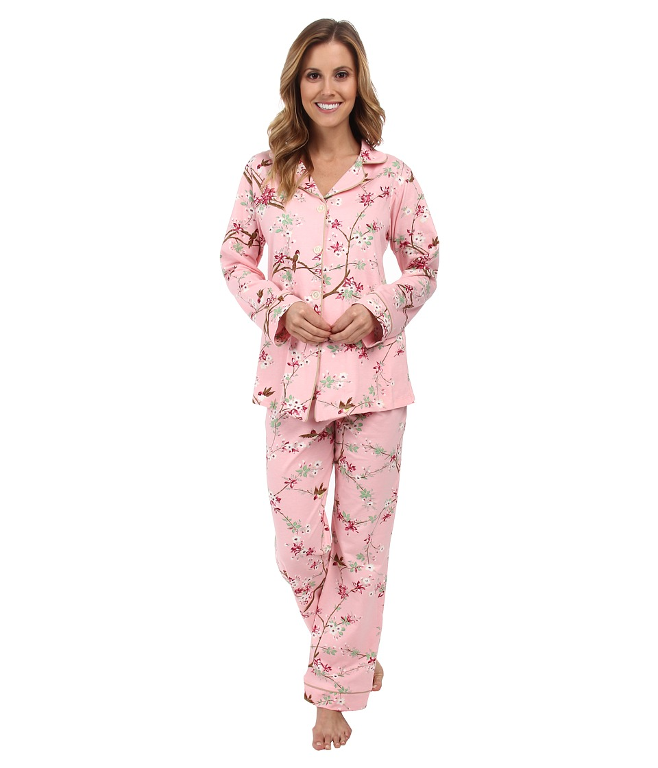 BedHead - Classic Stretch PJ Set (Birds/Blossoms) Women's Pajama Sets