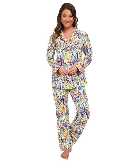 BedHead - Classic Stretch PJ Set (Blue Sergeant Pepper) Women's Pajama Sets