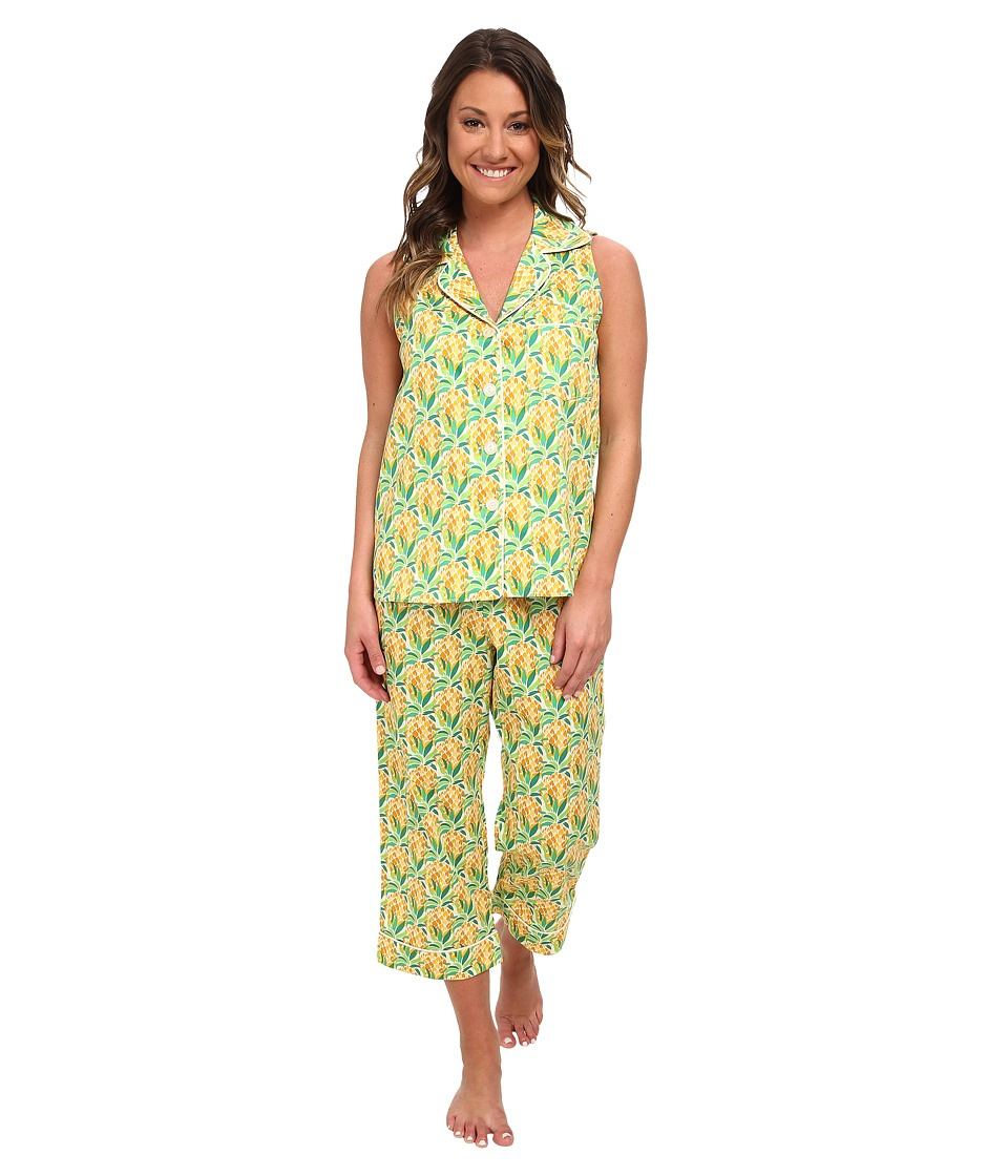 BedHead - Sleeveless Cropped Pants PJ Set (Pineapples) Women's Pajama Sets