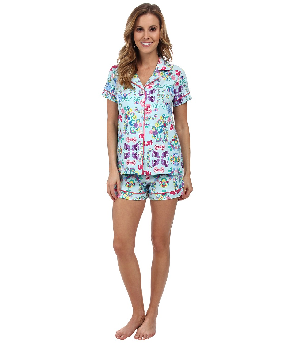 BedHead - Shorty PJ Stretch (Floral Wonderland) Women's Pajama Sets