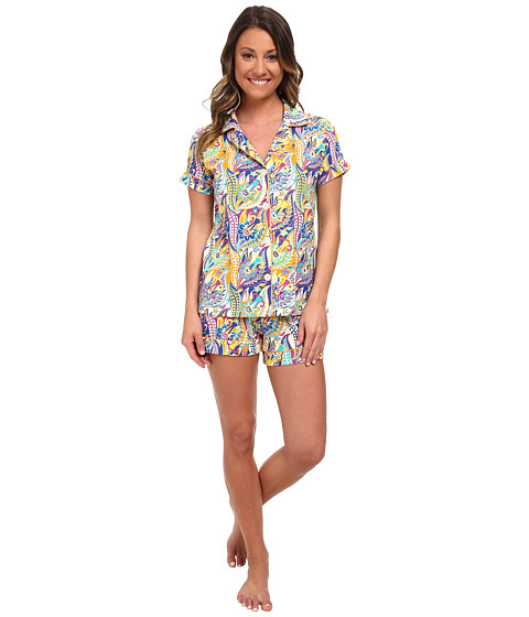 BedHead - Shorty PJ Stretch (Blue Sergeant Pepper) Women's Pajama Sets