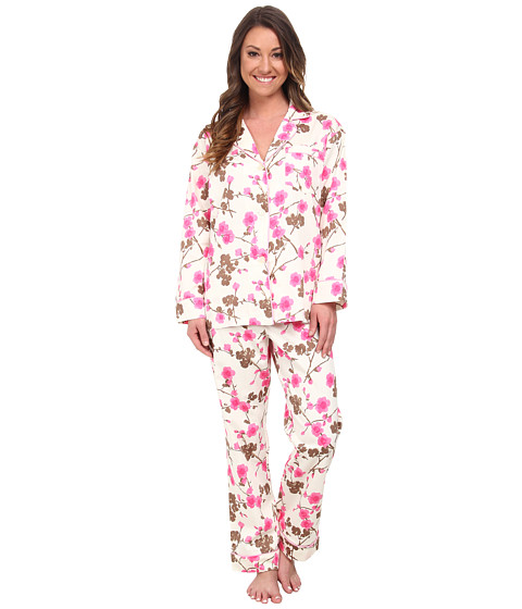 BedHead - Classic Sateen PJ (Pink Cherry Blossoms) Women's Pajama Sets