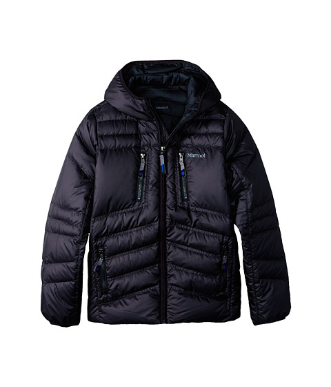 Marmot Kids - Boy's Hangtime (Down) Hoody (Little Kids/Big Kids) (Black 1) Boy's Coat