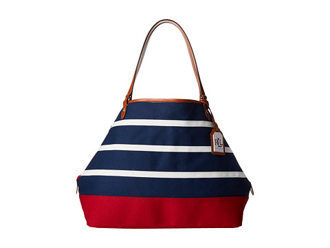 LAUREN by Ralph Lauren - Harboard Tote (Bright Navy/Vanilla/RL Red) Tote Handbags