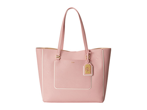 LAUREN by Ralph Lauren - Dorset Tote (Tea Rose/Vanilla) Tote Handbags