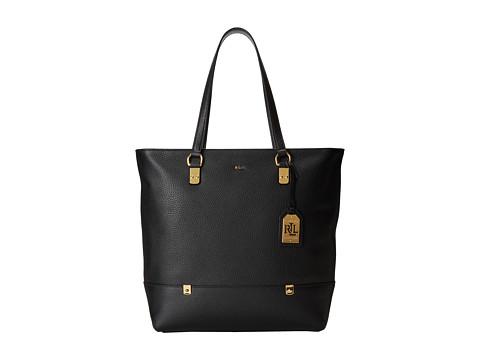 LAUREN by Ralph Lauren - Morrison N/S Tote (Black) Tote Handbags