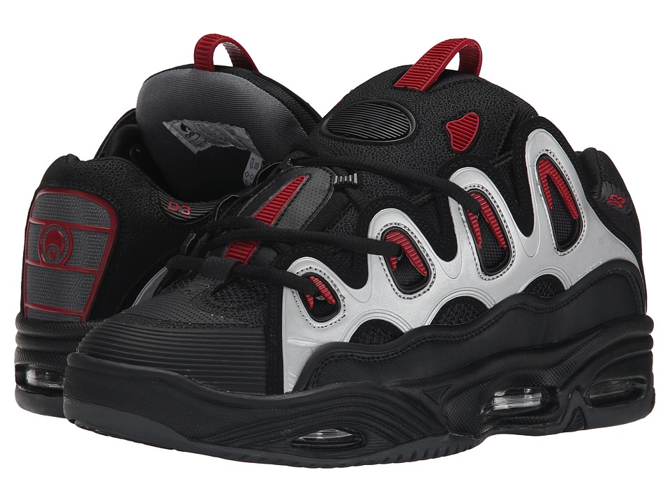 Osiris - D3 2001 (Black/Charcoal/Red) Men
