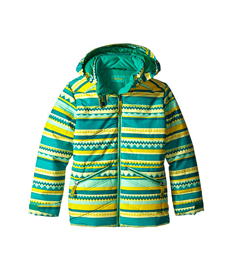 Marmot Kids - Scarlett Jacket (Little Kids/Big Kids) (Gem Green Stripe) Girl