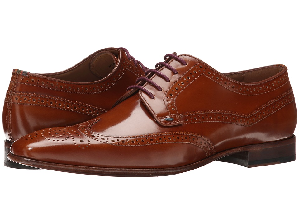Paul Smith - Aldrich Hobar Oxford (Tan) Men's Lace Up Wing Tip Shoes