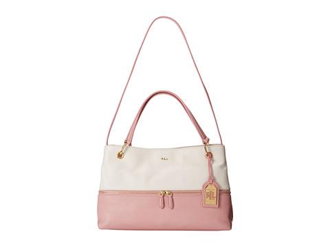 LAUREN by Ralph Lauren - Meysey Satchel (Vanilla/Tea Rose) Satchel Handbags