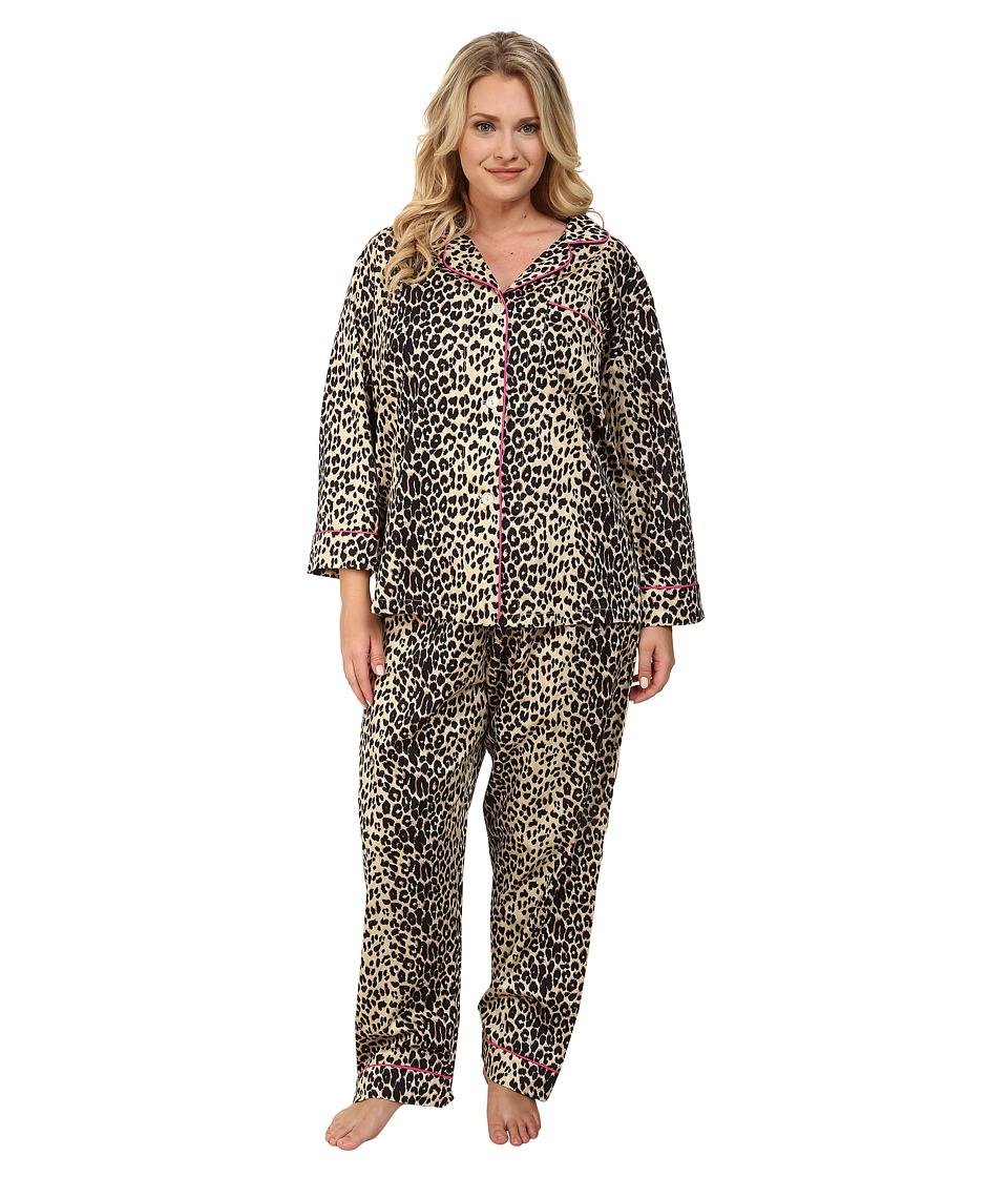 BedHead - Plus Size Notch Collar Pajama (Wild Thing) Women's Pajama Sets
