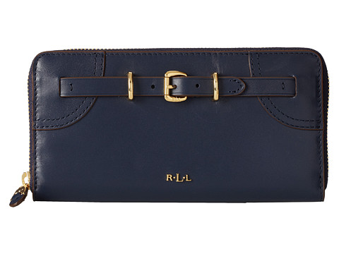 LAUREN by Ralph Lauren - Lauren Zip Wallet (Navy) Wallet Handbags