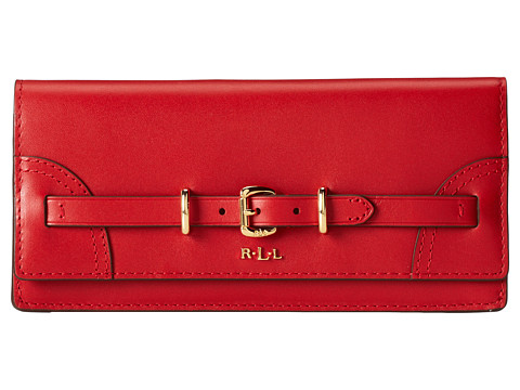 LAUREN by Ralph Lauren - Lauren Skinny Envelope Wallet (Red) Wallet Handbags