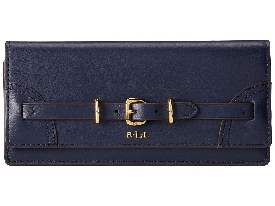 LAUREN Ralph Lauren - Lauren Skinny Envelope Wallet (Navy) Wallet Handbags