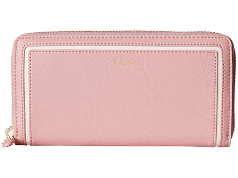 LAUREN by Ralph Lauren - Dorset Zip Wallet (Tea Rose/Vanilla) Wallet Handbags