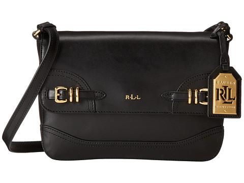 LAUREN by Ralph Lauren - Lauren Medium Messenger (Black) Messenger Bags