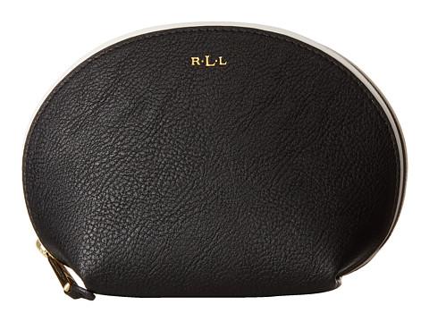 LAUREN by Ralph Lauren - Dorset Shell Cosmetic Case (Black/Vanilla) Cosmetic Case