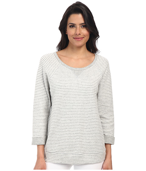 Soft Joie - Altair (Heather Grey/Porcelain) Women's Long Sleeve Pullover