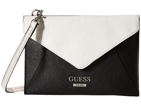 GUESS - Doheny Petite Envelope (Black Multi) Handbags