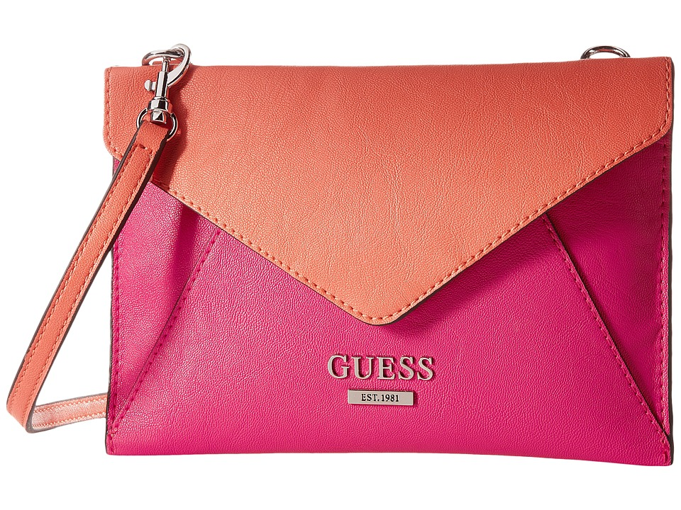 GUESS - Doheny Petite Envelope (Passion Multi) Handbags