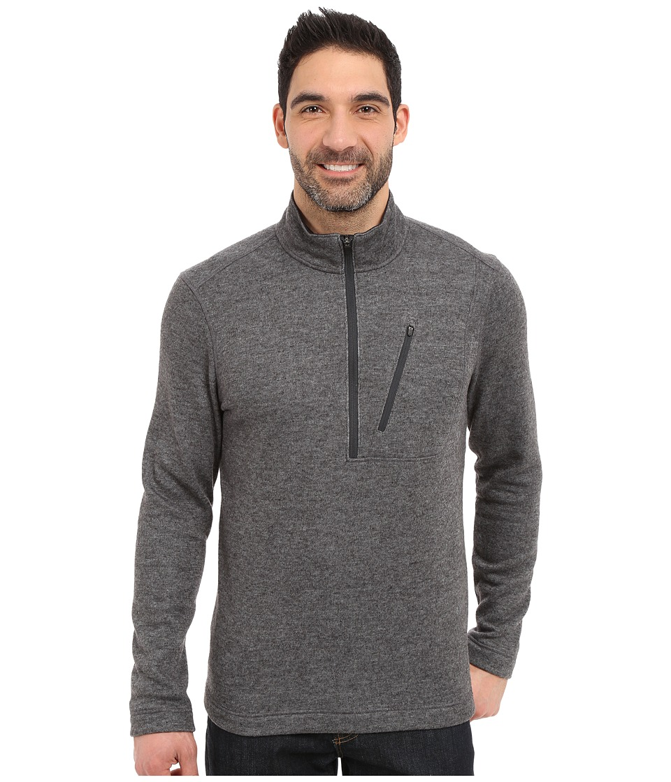 Toad&Co - Outbound 1/4 Zip (Black) Men's Long Sleeve Pullover