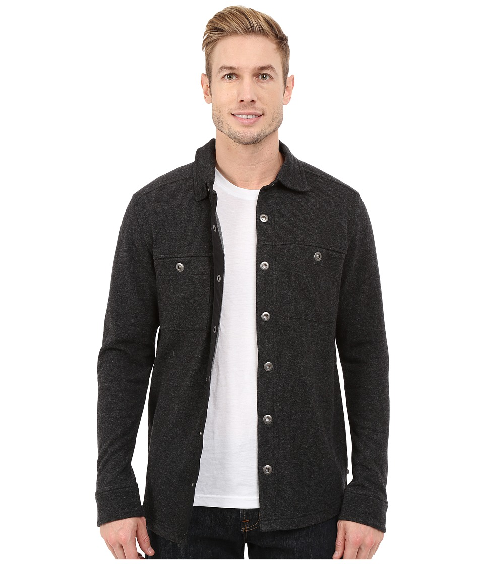 Toad&Co - Sidecar Snap Closure Overshirt (Black Heather) Men's Long Sleeve Button Up