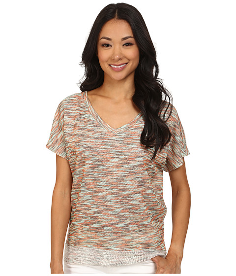 KUT from the Kloth - Maddy V-Neck Short Dolman Top Hi-Low (Oyster) Women