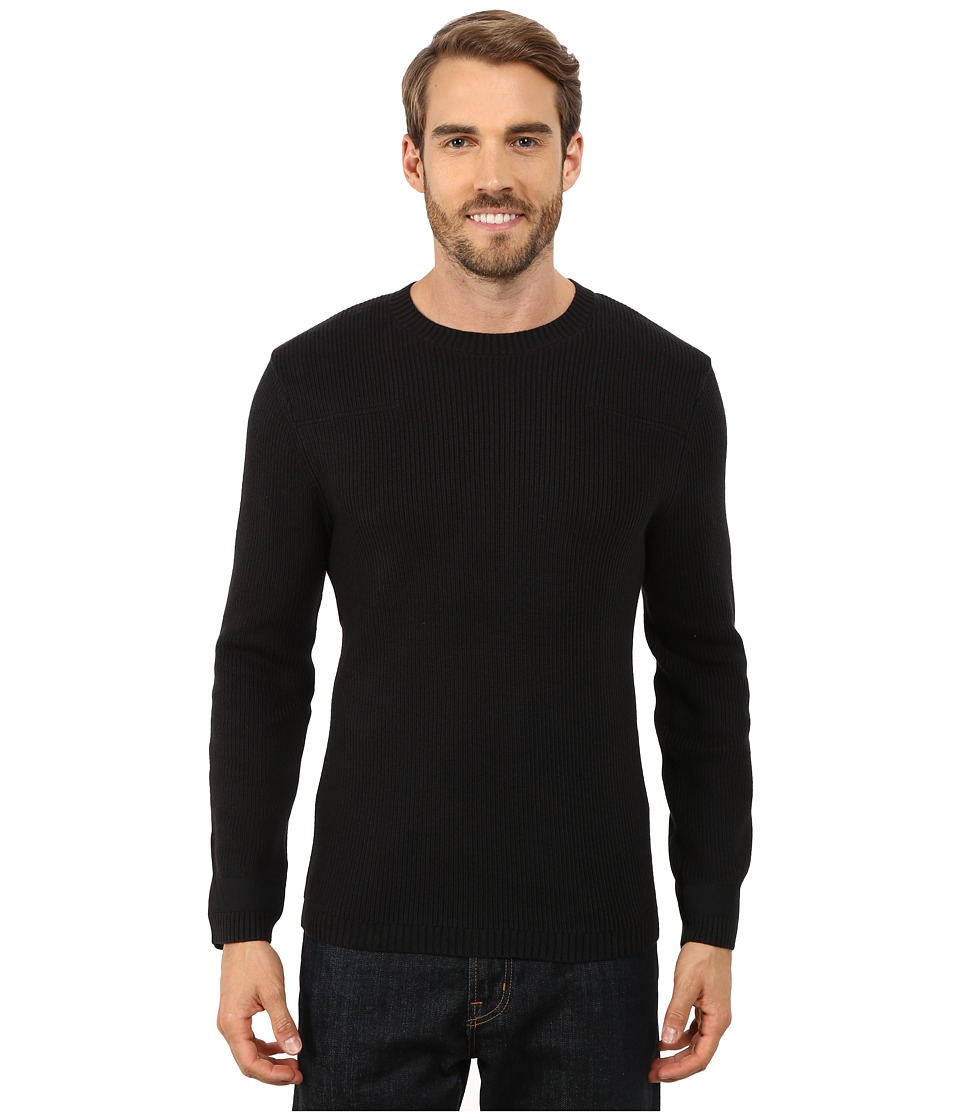 Toad&Co - Emmett Crewneck Sweater (Black) Men's Sweater