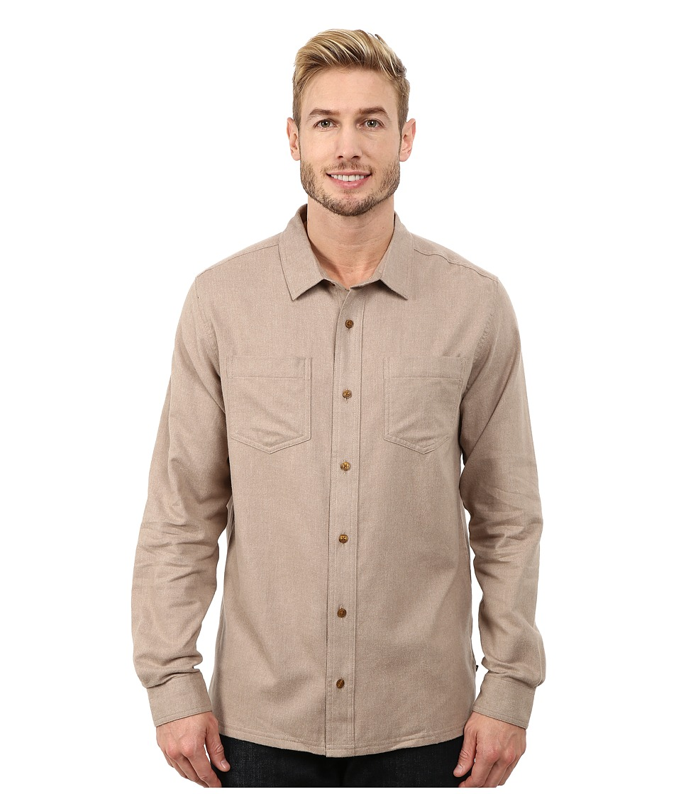 Toad&Co - Flannagan Solid Long Sleeve Shirt (Honey Brown) Men's Long Sleeve Button Up