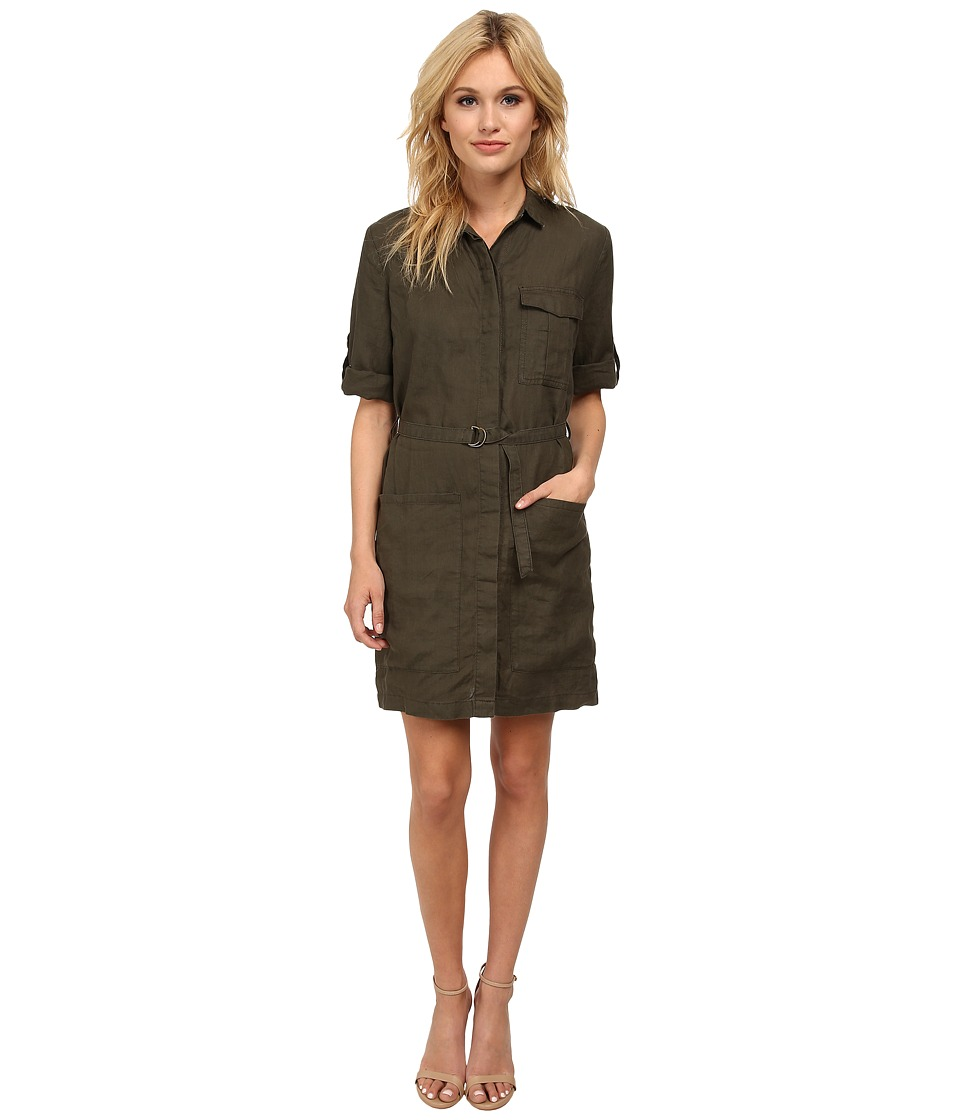 KUT from the Kloth - Solange Button Down Tee Shirt Dress (Olive) Women's Dress