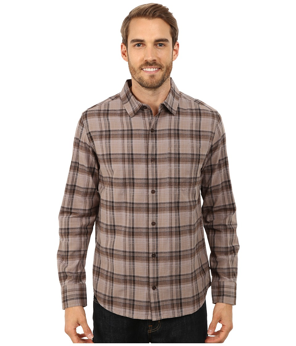 Toad&Co - Open Air Cotton Long Sleeve Shirt (Dark Roast) Men's Long Sleeve Button Up