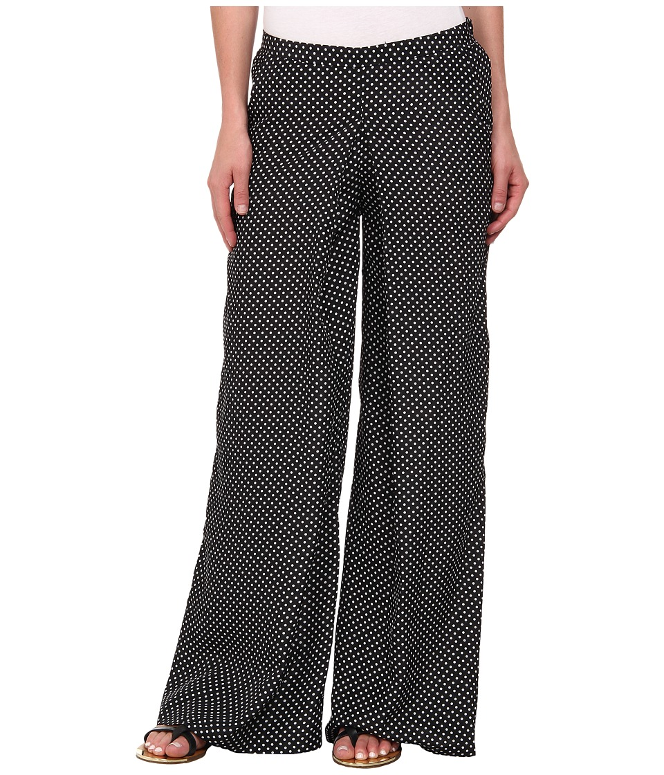 KUT from the Kloth - Full Leg Pant with Released Pleat (Black/White) Women's Casual Pants