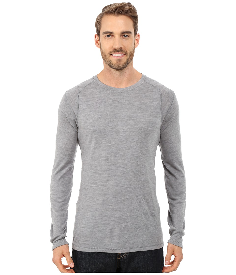 Smartwool - NTS Mid 250 Crew Top (Light Grey Heather) Men's Long Sleeve Pullover