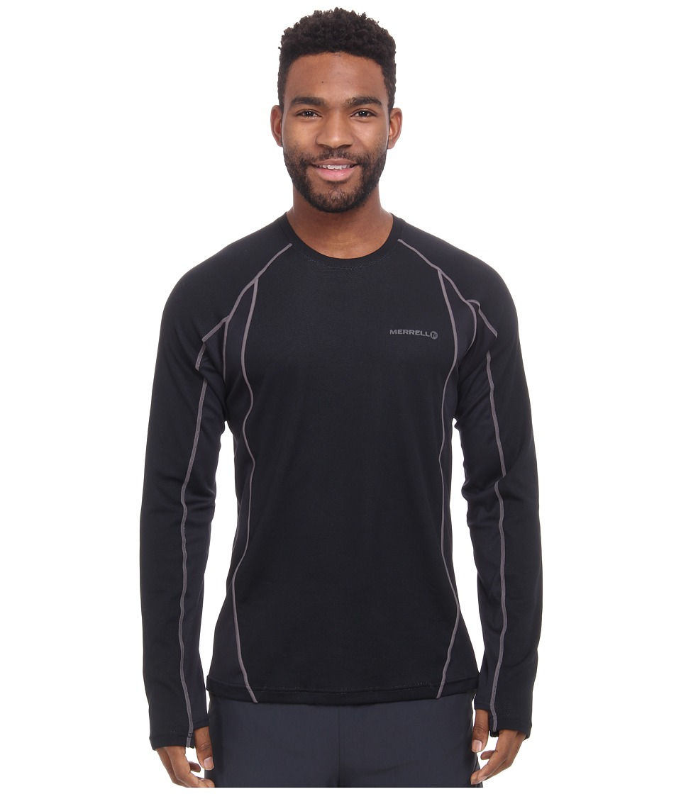 Merrell - Fuse L/S Tee (Black/Shadow) Men's T Shirt