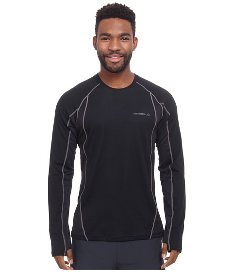 Merrell - Fuse L/S Tee (Black/Shadow) Men