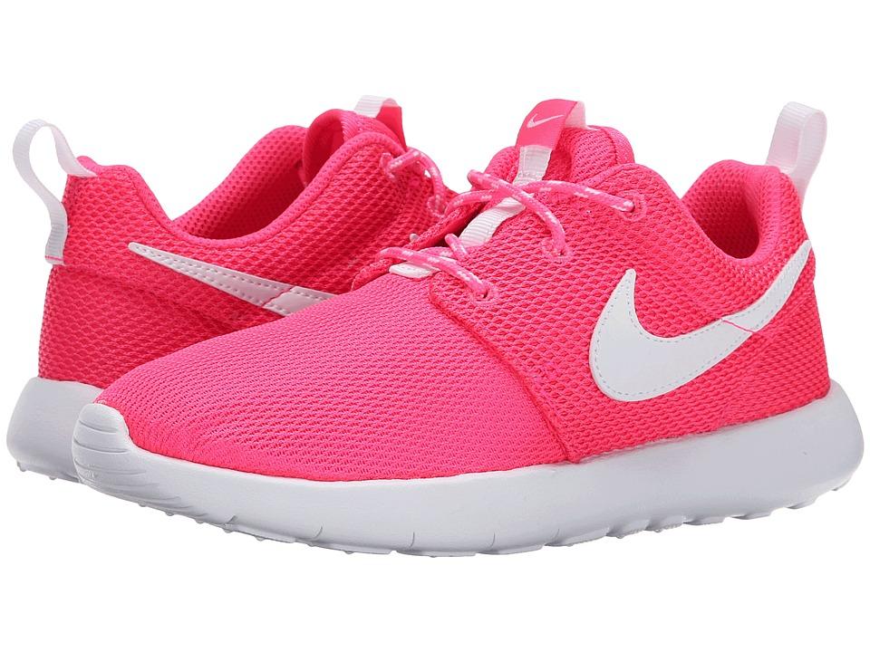 Nike Kids - Roshe Run (Little Kid) (Hyper Pink/White) Girls Shoes