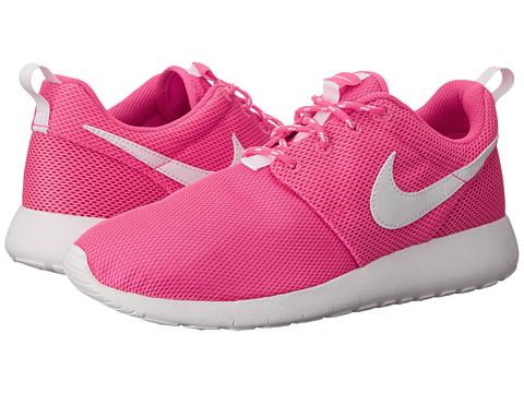 Nike Kids - Roshe Run (Big Kid) (Hyper Pink/White) Girls Shoes