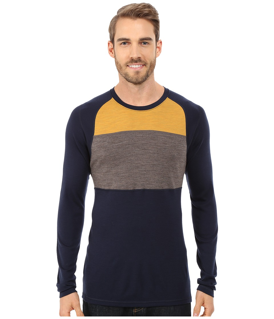 Smartwool - NTS Mid 250 Color Block Crew Top (Deep Navy) Men's Sweater