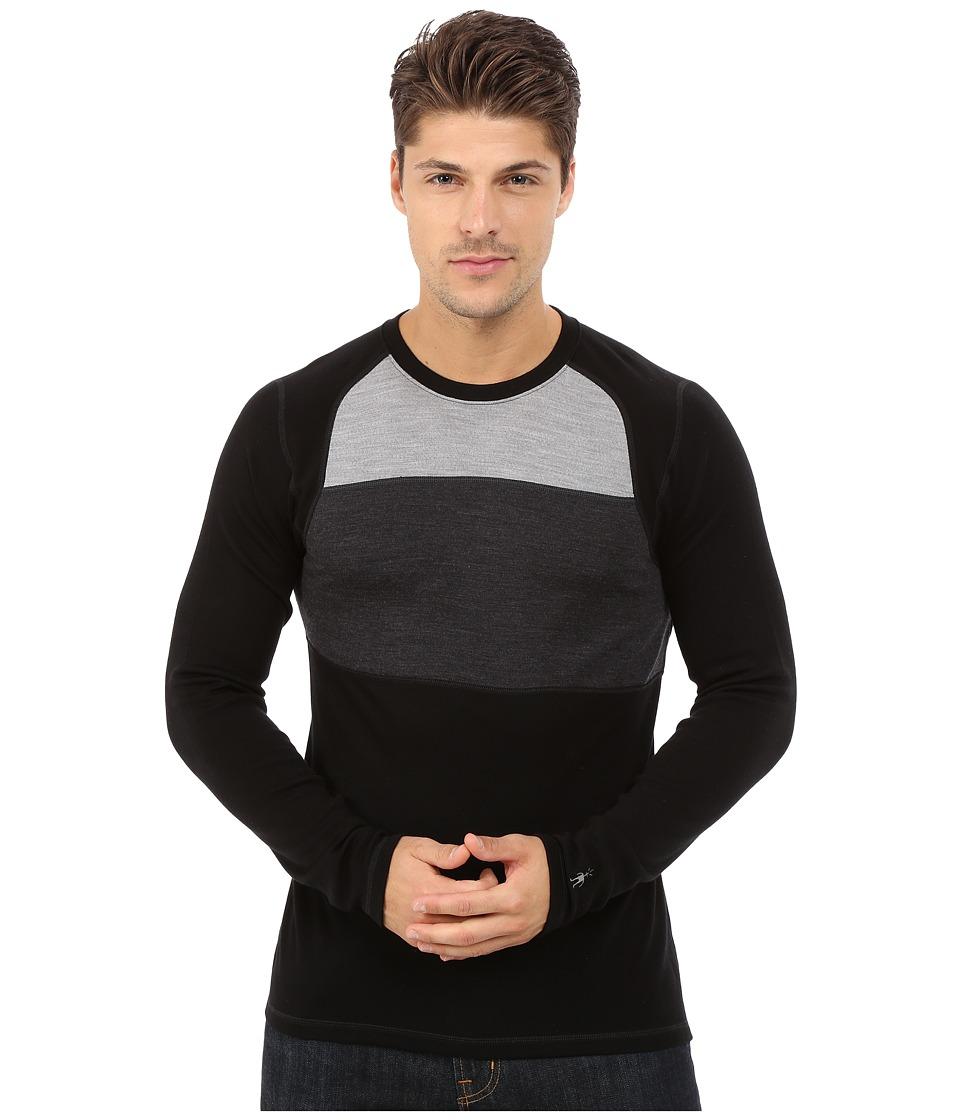 Smartwool - NTS Mid 250 Color Block Crew Top (Black) Men's Sweater