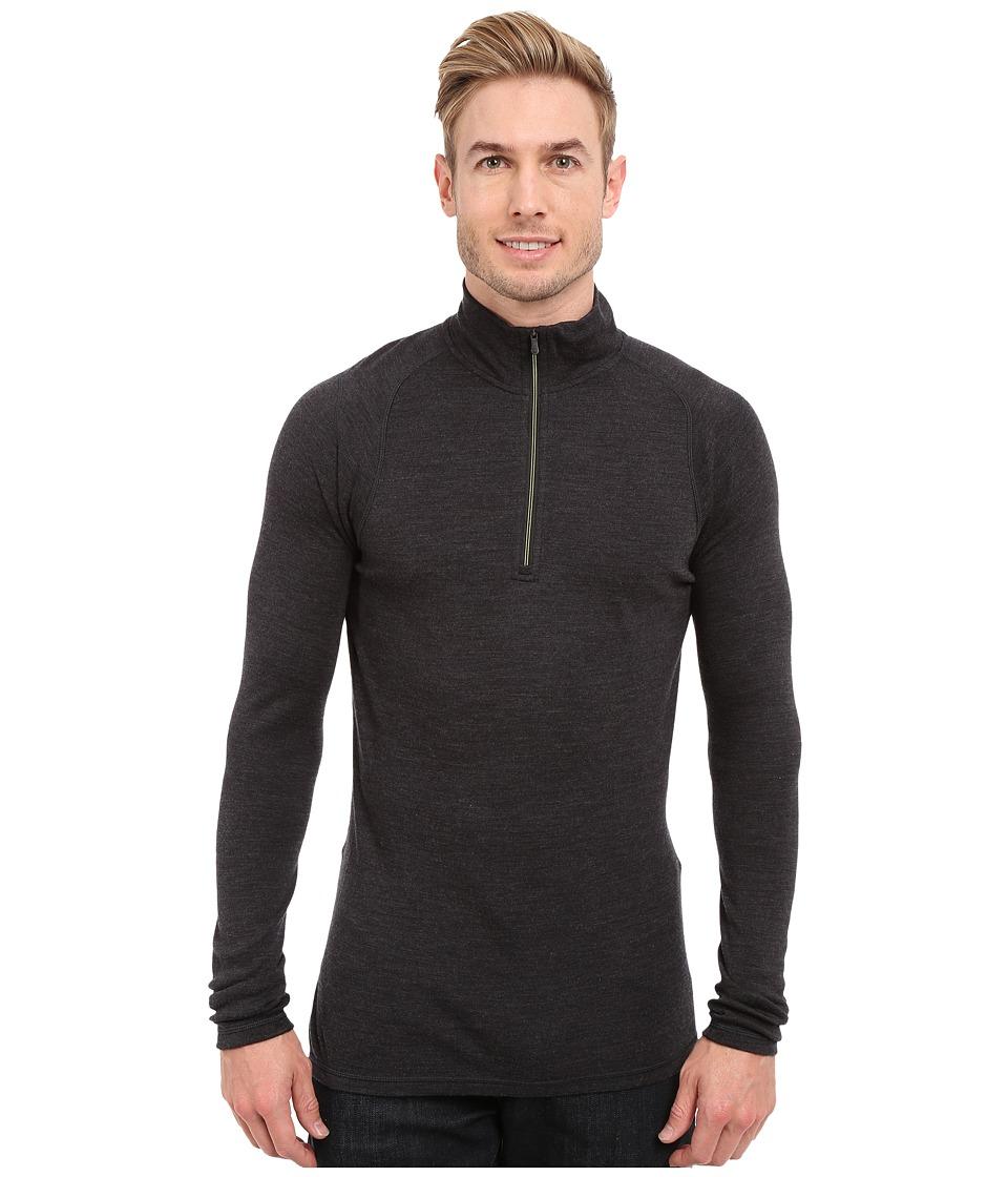 Smartwool - NTS Mid 250 Zip T Top (Charcoal Heather) Men's Long Sleeve Pullover
