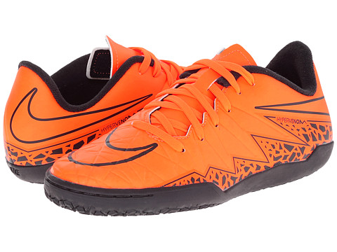 Nike Kids - Jr Hypervenom Phelon II IC Soccer (Toddler/Little Kid/Big Kid) (Total Orange/Black/Total Orange) Kids Shoes