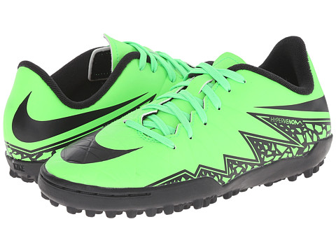 Nike Kids - Jr Hypervenom Phelon II TF Soccer (Toddler/Little Kid/Big Kid) (Green Strike/Black) Kids Shoes