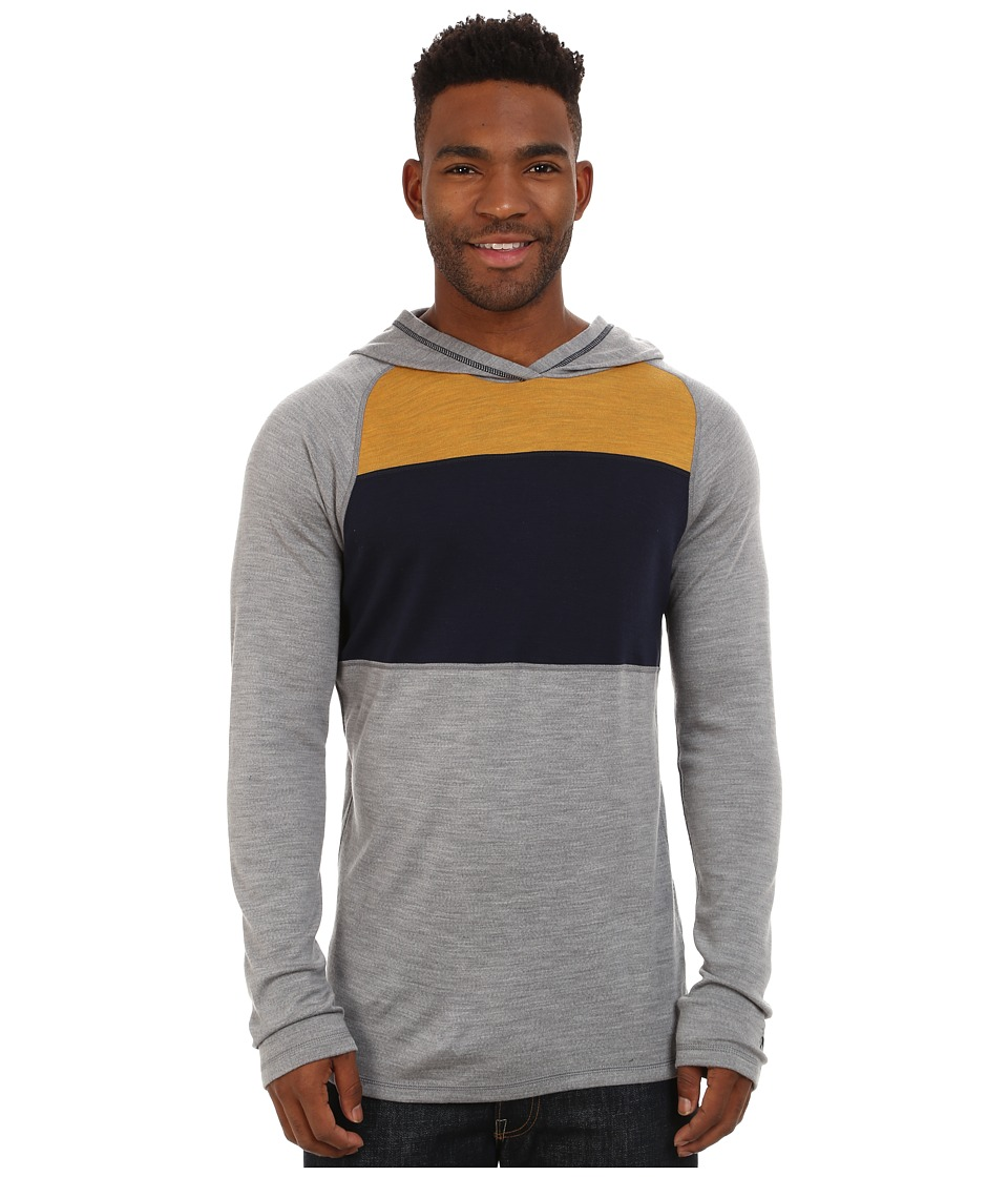 Smartwool - NTS Mid 250 Color Block Hoodie (Light Grey Heather) Men