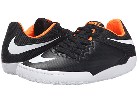 Nike Kids - Jr Hypervenom Pro Street IC Soccer (Little Kid/Big Kid) (Black/Total Orange/White) Kids Shoes
