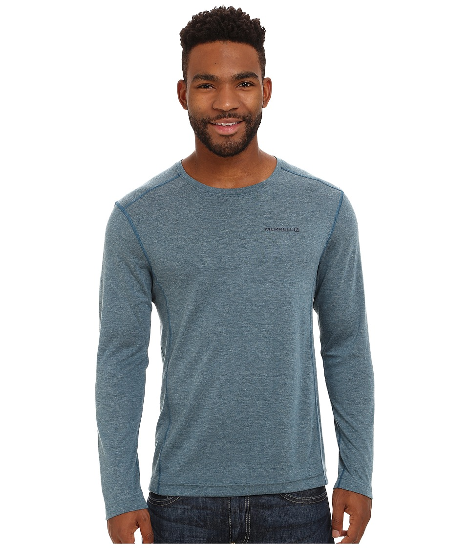 Merrell - Geom L/S Tee (Legion Blue Heather) Men