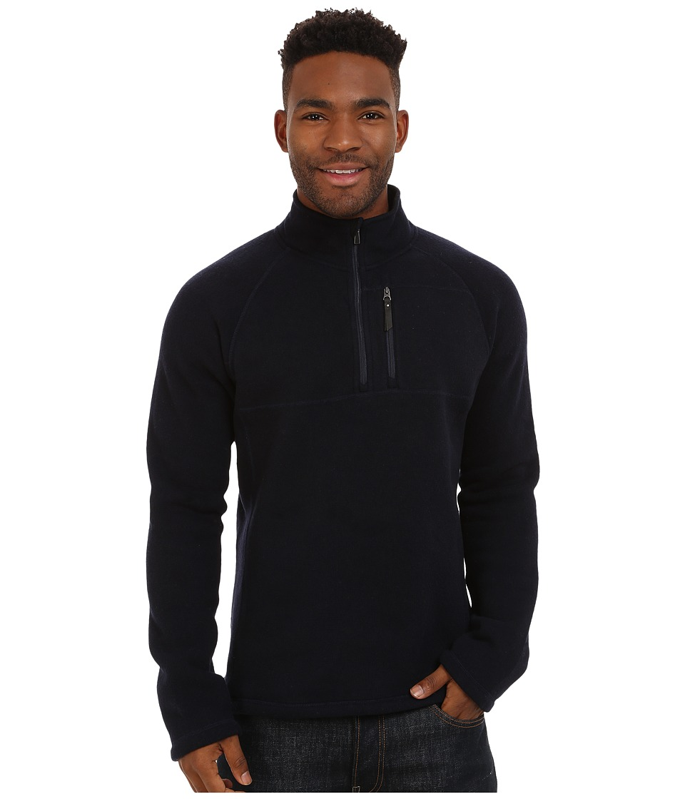 Smartwool - Echo Lake Half Zip Top (Deep Navy Heather) Men's Fleece